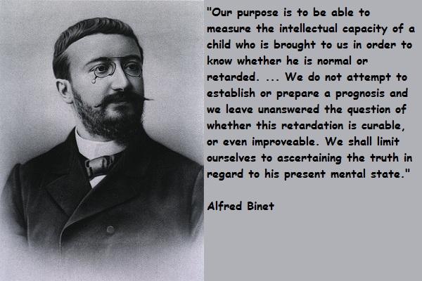 Alfred Binet對於智力研究的出發點和用處,與Francis Galton截然不同