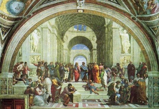 Raffael: Schule von Athen, 1509–1510,