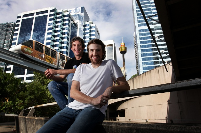 Atlassian co-founders Scott Farquhar and Mike Cannon-Brookes. Photo: Atlassian
