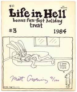 "Matt Groening第一次為公眾賞識的漫畫""Life in Hell"""